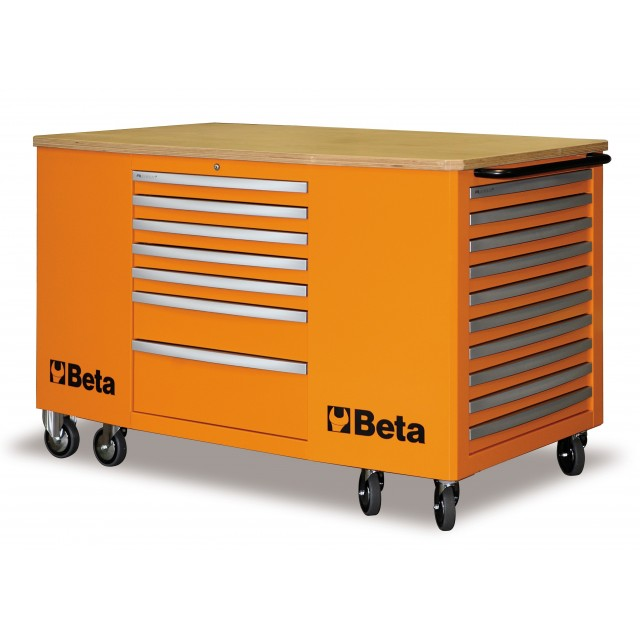 C31-O-MOBILE WORKSTATION 28 DRAW.ORANGE