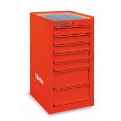 C38 LR-SIDE CAB 7 DRAWERS RED