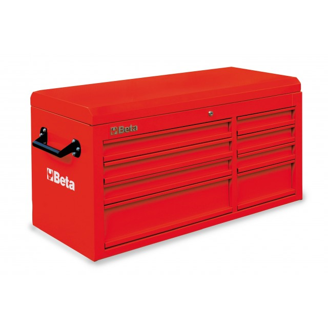 C38 TR-CAB 8 DRAWERS + TOP CHEST RED