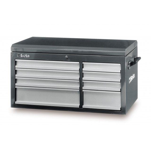 C38 TG-CAB 8 DRAWERS + TOP CHEST GREY
