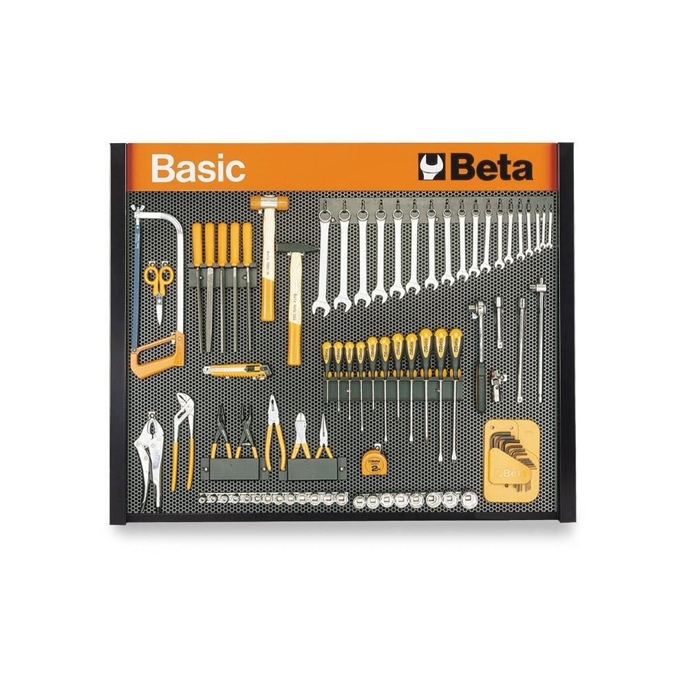 Parete porta utensili beta basic c58p a 86 utensili 5800p au betafer - Portautensili da parete ...