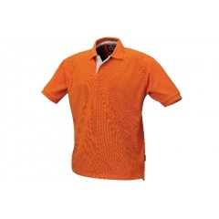 7546O /S-THREE-BUTTON POLO SHIRT ORANGE