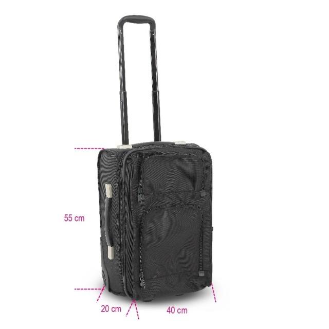 Walizka sztywna na kółkach o wymiarach bagażu kabinowego 9544