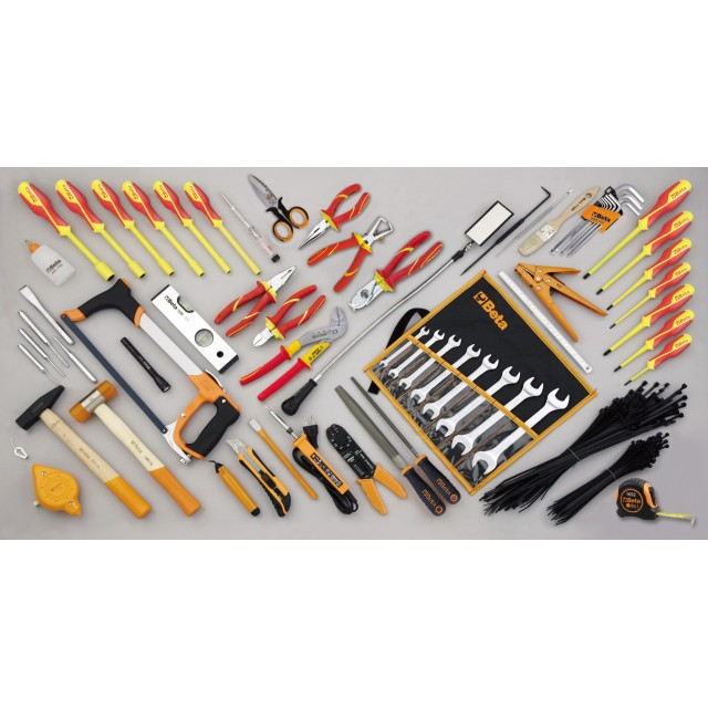 Assortment of 64 tools for electricians Beta Tools 5980ET/B