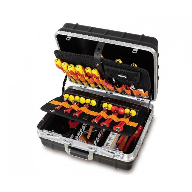 Tool case with assortments of tools for electronic and electrotechnical maintenance Beta Tools 2029EL/B