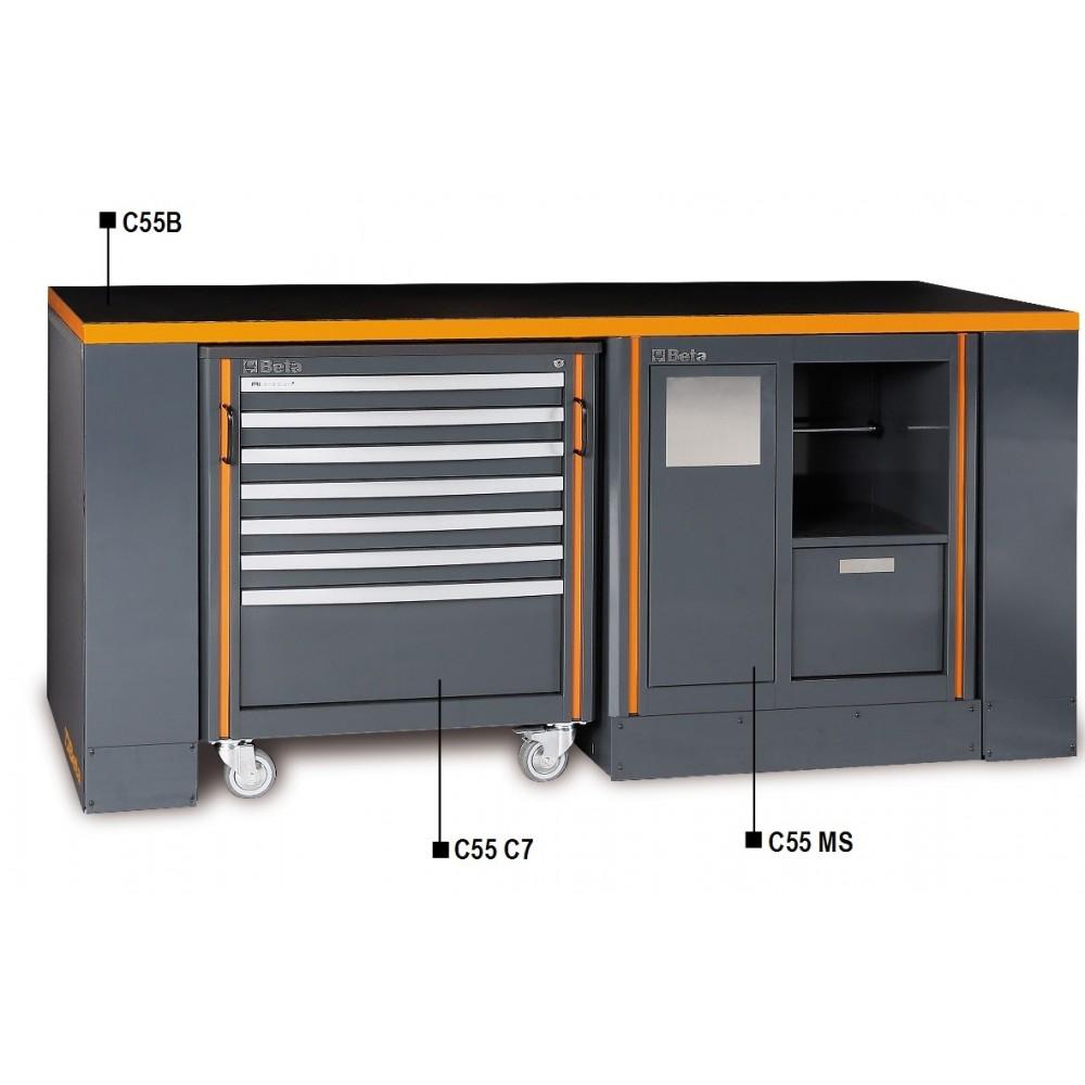 Banco da lavoro per arredo officina beta c55b 4 betafer for Arredamento officina meccanica