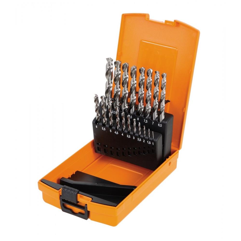 Set of 19 Twist drills HSS with