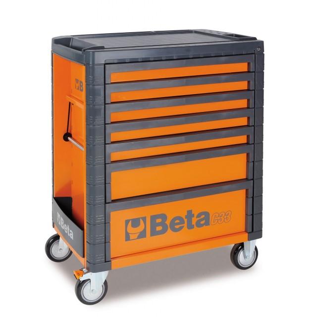Cassettiera con sette cassetti arancione , Beta C33 7/O