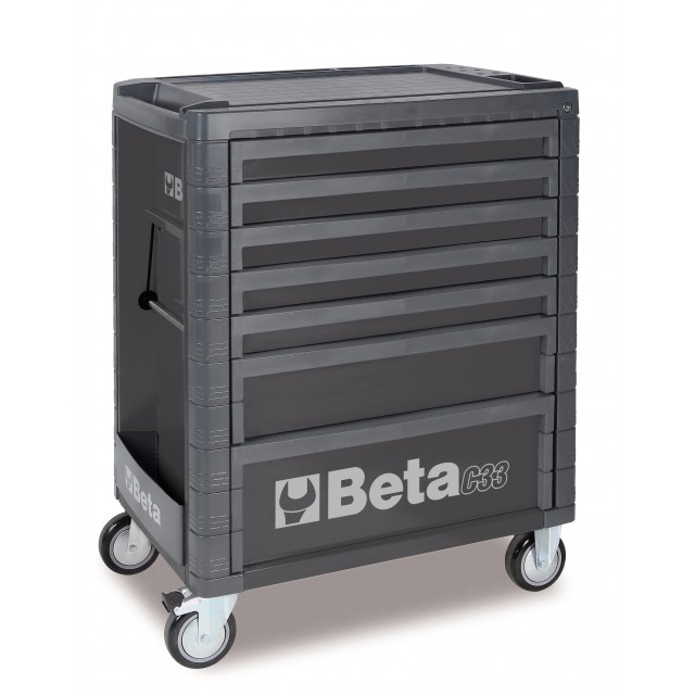 Cassettiera con sette cassetti grigia , Beta C33 7/G