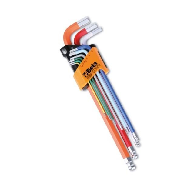 Serie di 9 chiavi a brugola colorate,