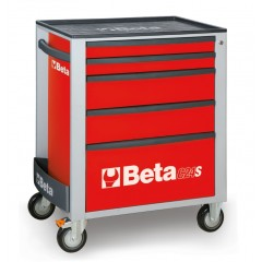 Beta C24S 5//O Mobile Roller Cab with 5-Drawers Orange