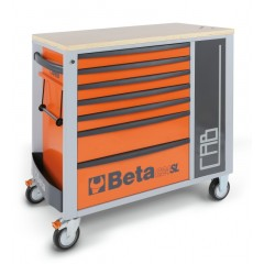 Mobile roller cab with seven drawers and tool cabinet - Beta C24SL-CAB