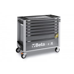 Mobile roller cab with 7 drawers, with anti-tilt system, long model - Beta C24SA