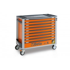Mobile roller cab with nine drawers, with anti-tilt system, long model - Beta C24SA-XL/9