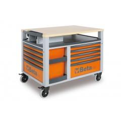 Carrello SuperTank con piano di lavoro e 10 cassetti - Beta C28