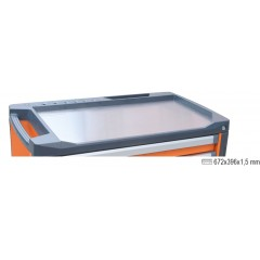 Stainless steel worktop for mobile roller cab item C37 - Beta 3700/PLA