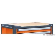 Wood worktop for mobile roller cab item C37 - Beta 3700/PLL