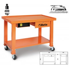 Verrijdbare werkbank voor versnellingsbak en aandrijving voorzien van vloeistof opvangbak - Beta CB52