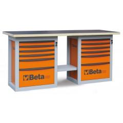 """Banco da lavoro """"Endurance"""" con 2 cassettiere da 6 cassetti - Beta C59B"""