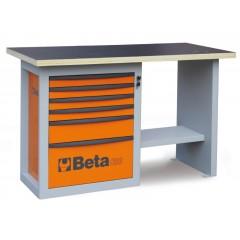 """Banco da lavoro """"Endurance"""" con 1 cassettiera da 6 cassetti, modello corto - Beta C59C"""