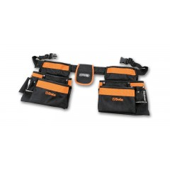 Tool pouch, empty, made from nylon, with belt - Beta 2005PA/D