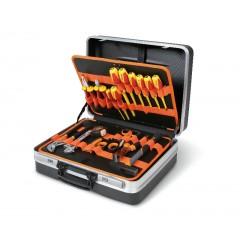 Valigia con assortimento di utensili per elettronica ed elettrotecnica - Beta 2028E