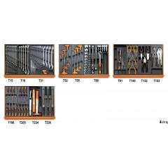 Assortimento di 146 utensili per impiego universale in moduli rigidi - Beta 5904VU/3T