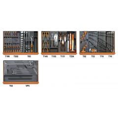 Assortimento di 102 utensili per autoriparazione in moduli rigidi - Beta 5904VG/3T