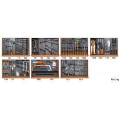 Assortimento di 232 utensili per manutenzioni industriali in moduli rigidi - Beta 5908VI/2T