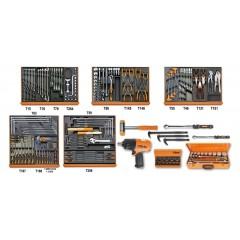 Assortimento di 202 utensili per manutenzioni industriali in moduli rigidi - Beta 5910VG/3T
