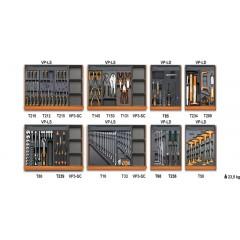 Assortimento di 210 utensili per impiego universale in termoformato rigido in ABS - Beta 5938U/2T