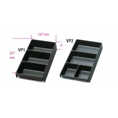 Termoformati portaminuterie in materiale plastico per tutti i modelli di cassettiere:  C22S, C23S, C23SC - Beta VP1 - VP2
