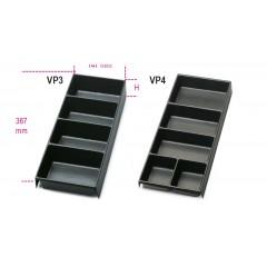 Termoformati portaminuterie in materiale plastico per tutti i modelli di cassettiere e per i carrelli - Beta VP3 - VP4