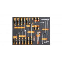 Modulo morbido giraviti Beta Grip per viti lama piatta, Phillips  e chiavi maschio esagonali - Beta MB44
