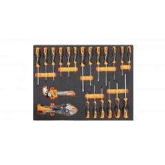 Modulo morbido giraviti Beta Grip per viti lama piatta, Phillips , Torx , chiavi maschio esagonali e autobloccanti - Beta MB45