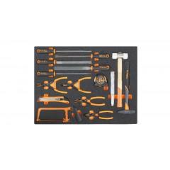 Modulo moribido utensili a percussione, lime, taglio e pinze per anelli elastici - Beta MB56