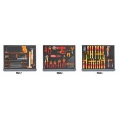 Assortimento di 95 utensili per elettrotecnica in moduli morbidi - Beta 5935ET/1MB