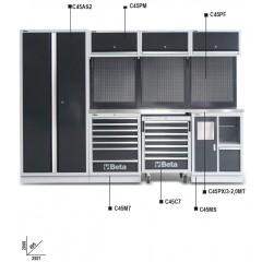 Combinazione arredo officina C45 - Beta C45/X