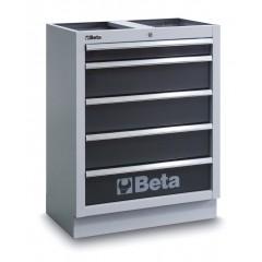 Modulo fisso con 5 cassetti per arredo officina - Beta C45M5