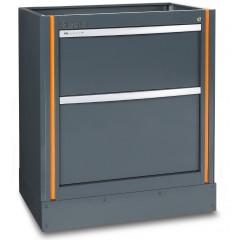 Modulo fisso con 2 cassetti per arredo officina - RSC55 C55M2