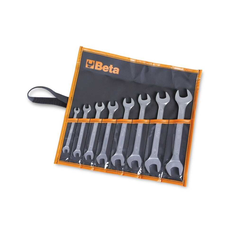 Serie di 8 chiavi a forchetta doppie in busta - Beta 55/B