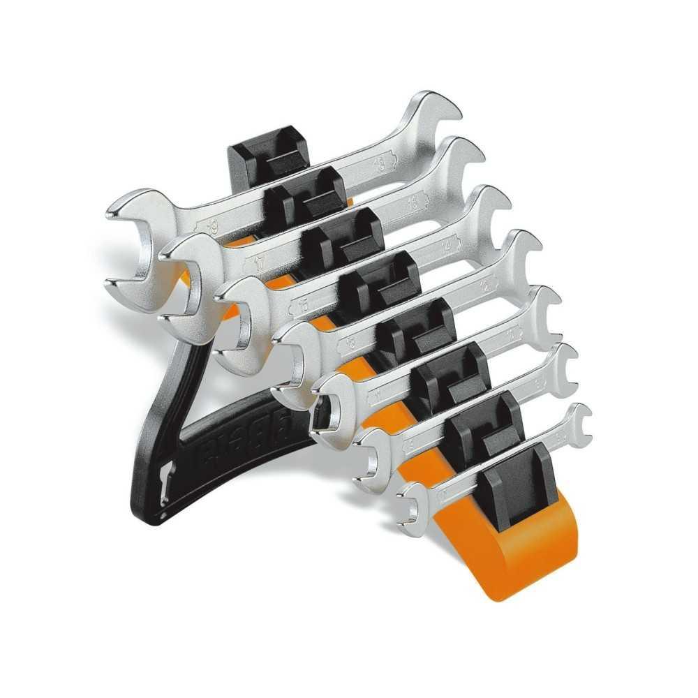 Serie di 7 chiavi a forchetta doppie con supporto - Beta 55/SP7