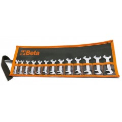 SET OF 13 SMALL WRENCHES IN WALLET, BETA TOOLS 73/B13
