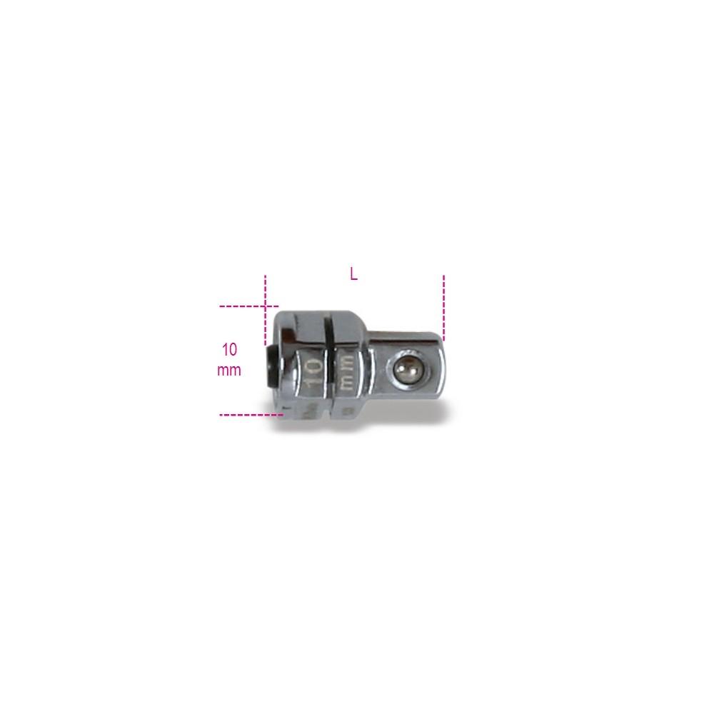 """Adattatore a sgancio rapido da 1/4"""" per chiavi a cricchetto da 10 mm cromato - Beta 123Q1/4"""