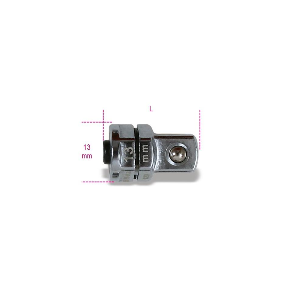 """Adattatore a sgancio rapido da 3/8"""" per chiavi a cricchetto da 13 mm cromato - Beta 123Q3/8"""