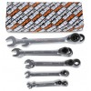Serie di 15 chiavi combinate a cricchetto reversibile (art. 142) - Beta 142/S