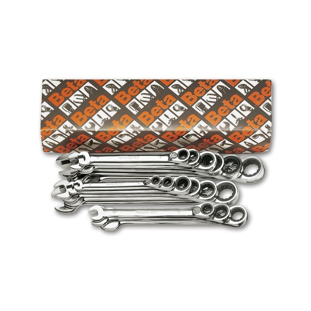 Serie di 19 chiavi combinate a cricchetto reversibile (art. 142) - Beta 142/S
