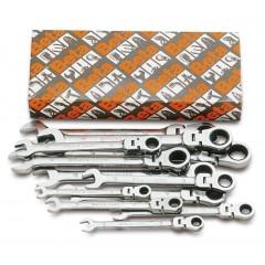 Serie di 13 chiavi combinate a cricchetto snodate (art. 142SN) - Beta 142SN/S