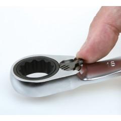Serie di 5 chiavi poligonali doppie piegate a 15° a cricchetto reversibile (art. 195P) in busta di Nylon - Beta 195P/B5