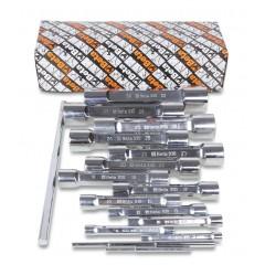 Serie di 13 chiavi a tubo doppie poligonali serie pesante (art. 930) - Beta 930/S